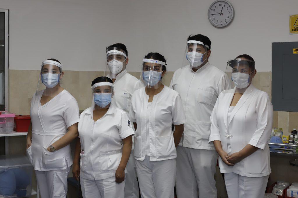 PUEBLA, Pue.,  03 Agosto 2020. Enfermeras y enfermeros  en la Cruz Roja Puebla.  Imelda Medina/Síntesis