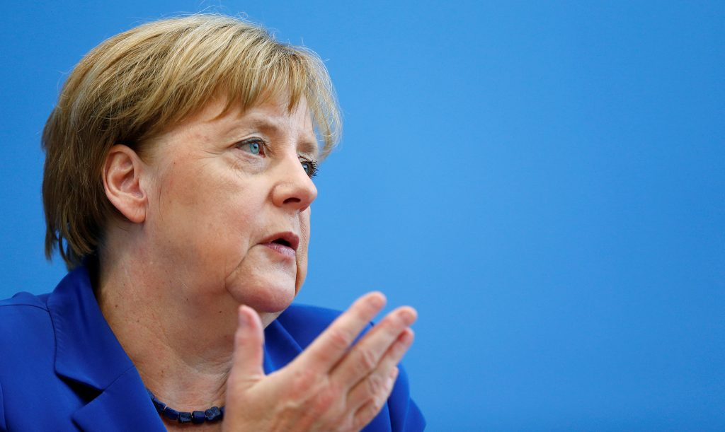 German Chancellor Angela Merkel addresses a news conference in Berlin, Germany, July 28, 2016. REUTERS/Hannibal Hanschke