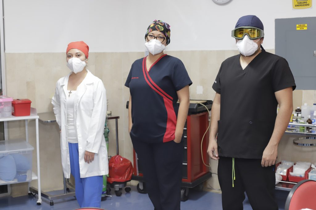 PUEBLA, Pue.,  03 Agosto 2020.  MEDICOS  en la Cruz Roja Puebla.  Imelda Medina/Síntesis