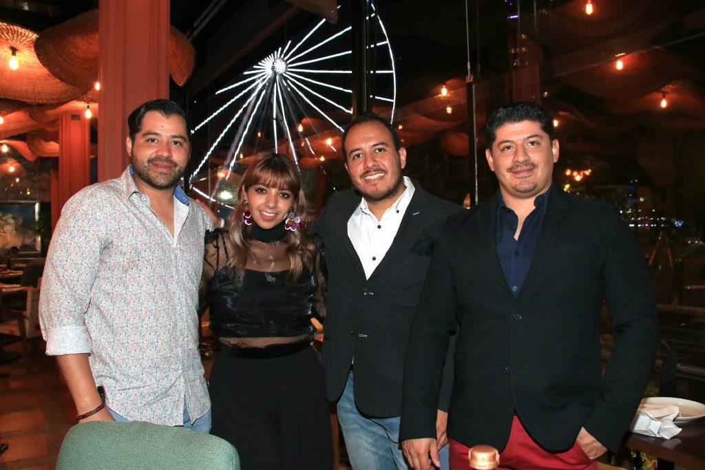 Ricardo Quevedo, Cara Cabrero, Homero Márquez y Guillermo Quevedo. Fotos: Antonio Aparicio