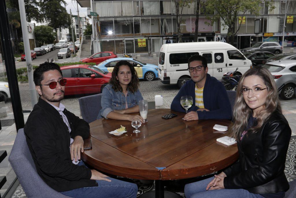 Carlos, Viridiana, Edgar y Lorna. Fotos: Daniela Portillo / Guillermo Pérez