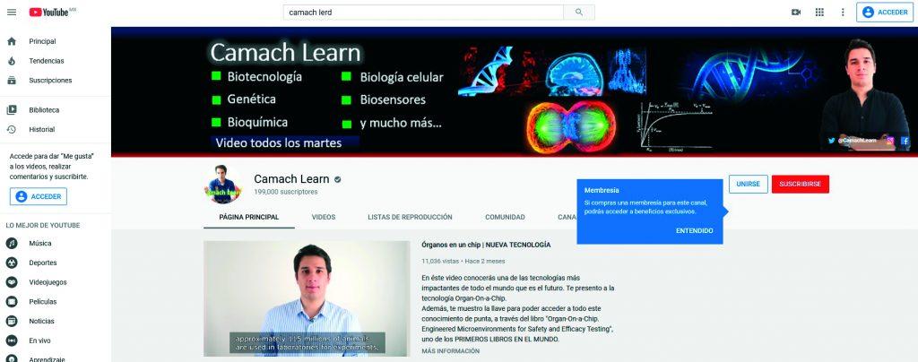 Camach Learn, en YouTube es un canal dedicado a la ciencia. FOTOS: ABRAHAM CABALLERO/ ROSTROS