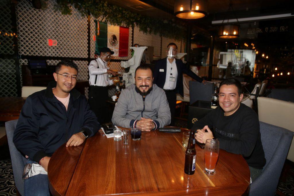 Ángel, Víctor y Fernando. Fotos: Daniela Portillo