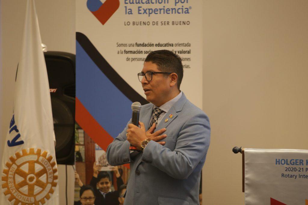 EXE se mostró agradecida con el apoyo de los Rotarios. Fotos: Daniela Portillo