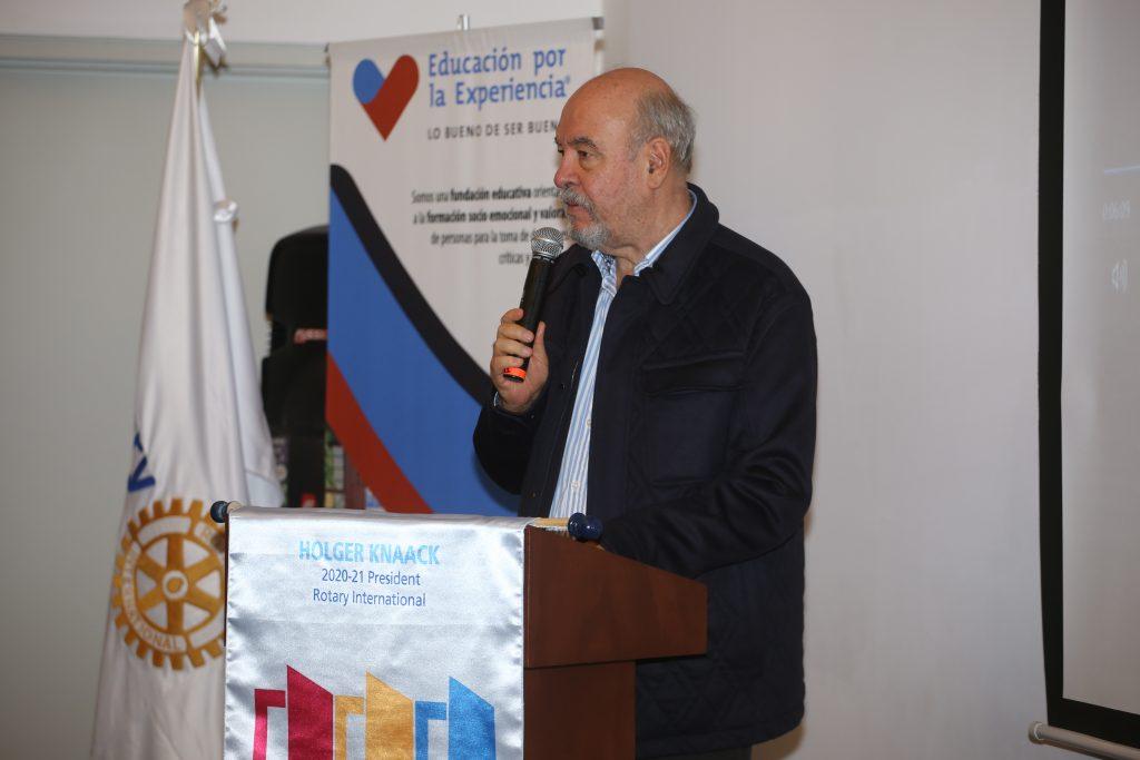 Armando Prida dio un gran discurso en la reunión. Fotos: Daniela Portillo