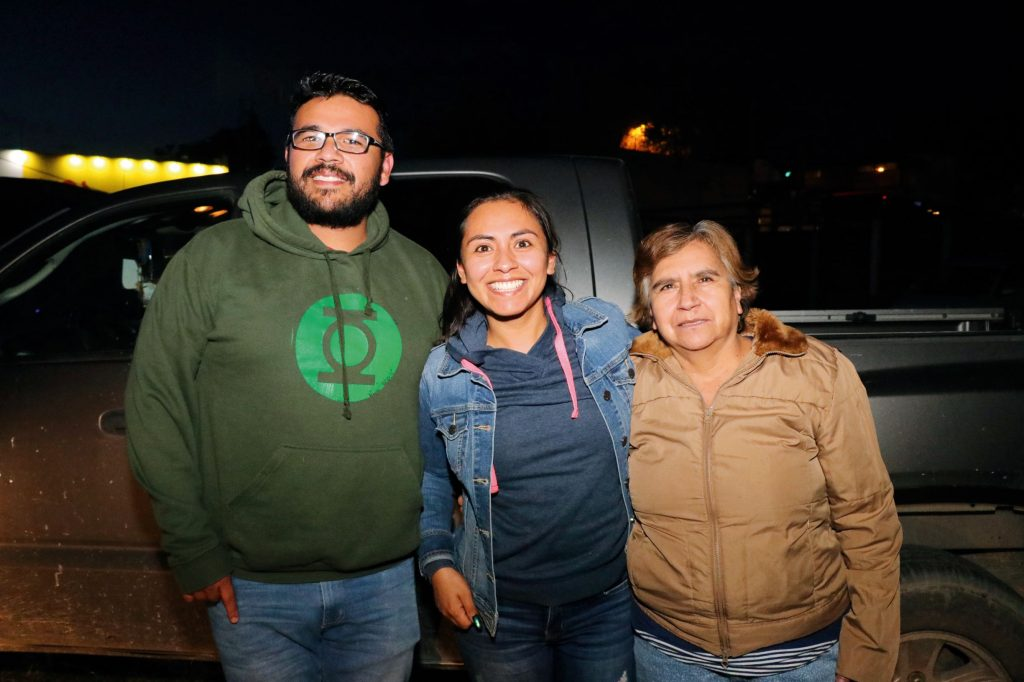 Uriel, Juanita y Guadalupe. FOTOS: ABRAHAM CABALLERO