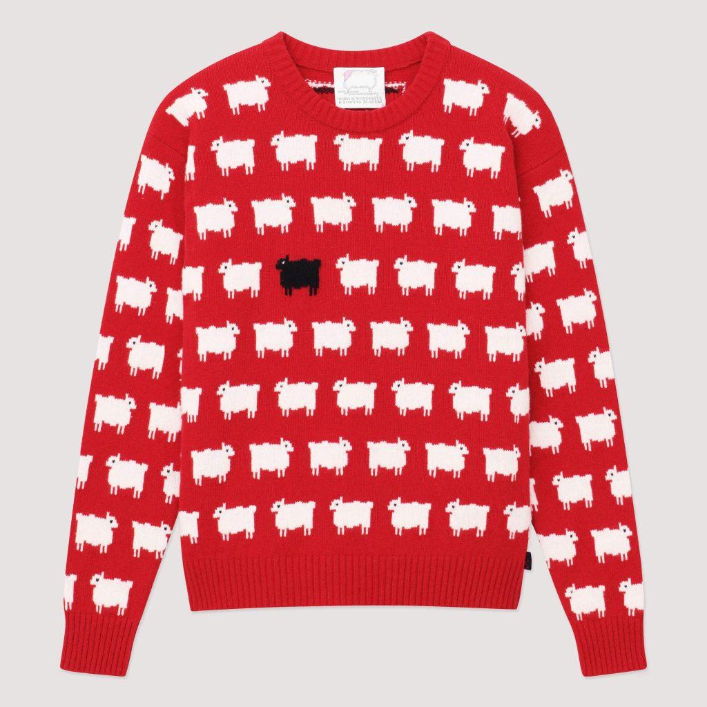 La colección de la firma incluye otros suéteres que también lució la princesa de Gales, una colección que, según detallan desde la firma, es un homenaje a principios de los 80 y