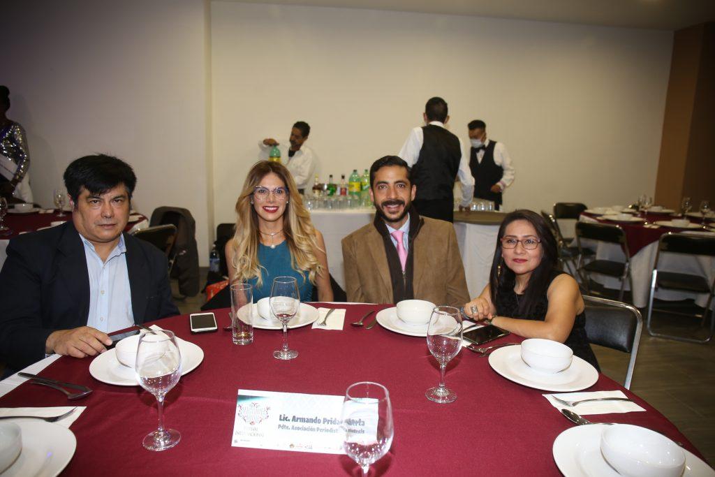 Adolfo Durán, Sandra Buscar, José María Corte y Eliza Arias. Fotos: Daniela Portillo